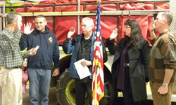 Officers sworn in