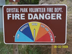 Fire Danger Warning Signs