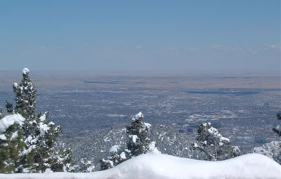 View to Colorado Springs